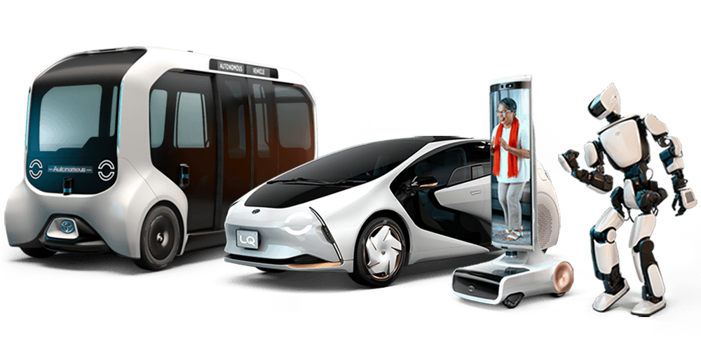 Line up of 4 Toyota mobility products.