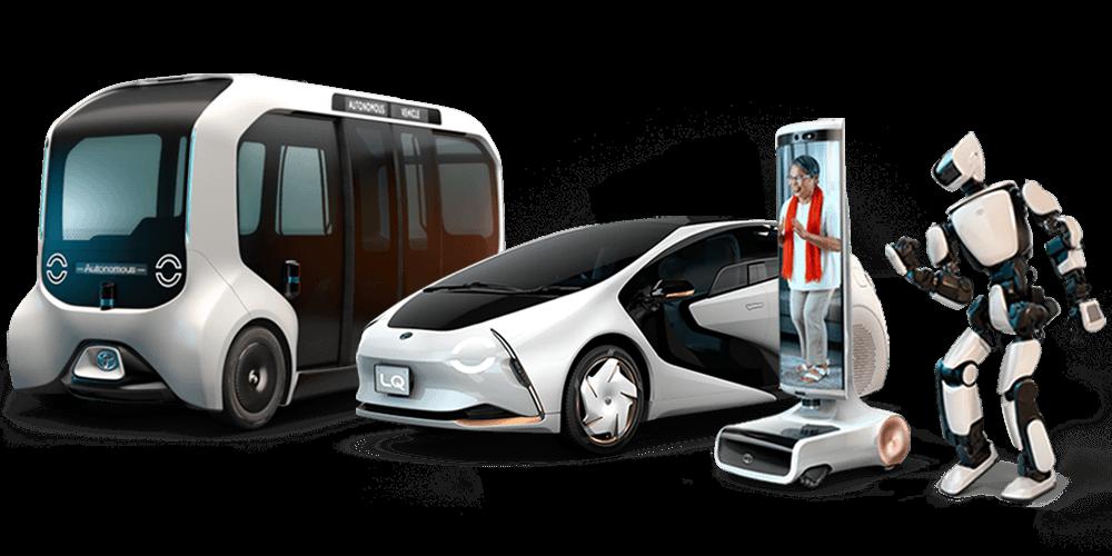 Línea de 4 productos de movilidad Toyota.