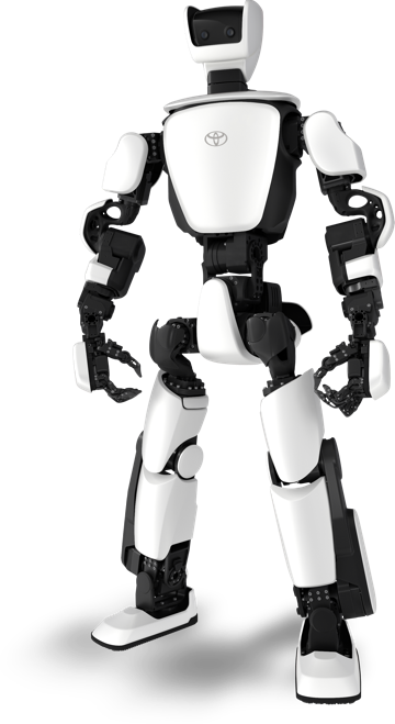 A humanoid robot from Toyota called T-HR3 with white body panels and black moving joints.